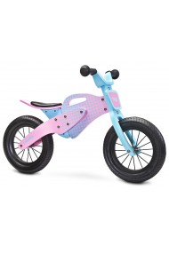 Enduro rosa - bicicleta de madera sin pedales