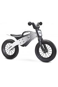 Enduro gris - bicicleta de madera sin pedales