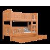 Cama litera de madera maciza Jacob 2 200x90 cm