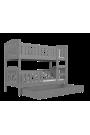 Cama litera Jacob 2 con cajón 160x80 cm