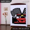 Armario Happy Colección con cajones estantes y barra