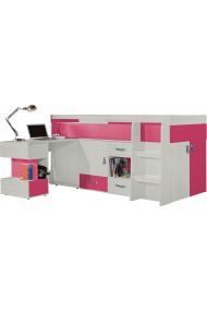 Cama alta con escritorio KOMI 200x90 cm
