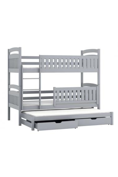 Cama litera con cama nido Beatriz 200x90 cm