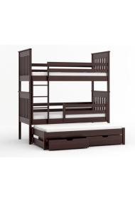 Cama litera con cama nido Juan 180x80 cm