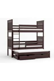 Cama litera con cama nido Juan 200x90 cm