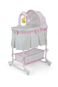 Minicuna para bebé Sweet Melody 4 en 1 Gris-rosa