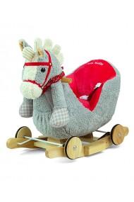 Caballo balancín Polly gris-rojo
