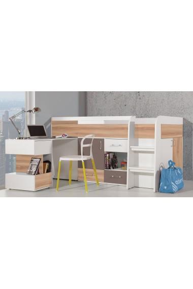 Cama alta con escritorio BLOG 200x90 cm