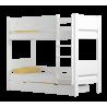 Cama litera de madera maciza Walter 160x80 cm