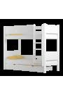 Cama litera de madera maciza Walter 180x80 cm