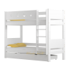 Cama litera de madera maciza Walter 3 180x80 cm