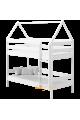 Cama litera de madera maciza Casita 190x90 cm