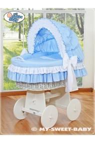 Cuna moisés de mimbre bebé Bellamy - Azul