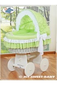 Cuna moisés de mimbre bebé Bellamy - Verde