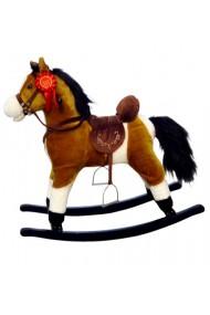 Caballo balancin Mustang marrón