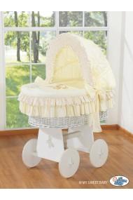 Cuna moisés de mimbre bebé Osito - Crema-blanco