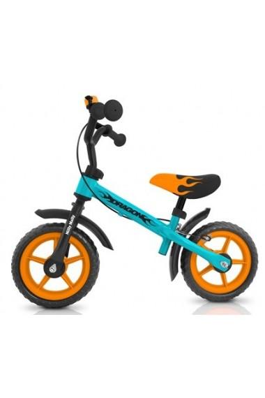 DRAGON CON FRENO AZUL-NARANJA - bicicleta sin pedales
