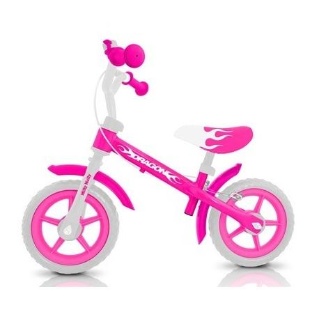 DRAGON CON FRENO ROSA - bicicleta sin pedales