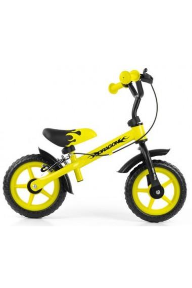 DRAGON CON FRENO AMARILLO - bicicleta sin pedales
