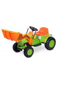 Coche eléctrico Bulldozer verde