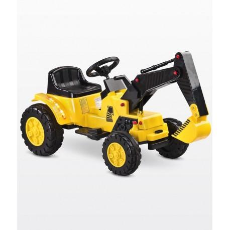 Coche eléctrico Digger La Excavadora amarillo