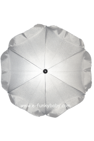 Parasol sombrilla para carrito plata
