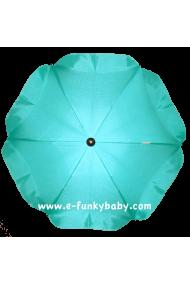Parasol sombrilla para carrito turquesa