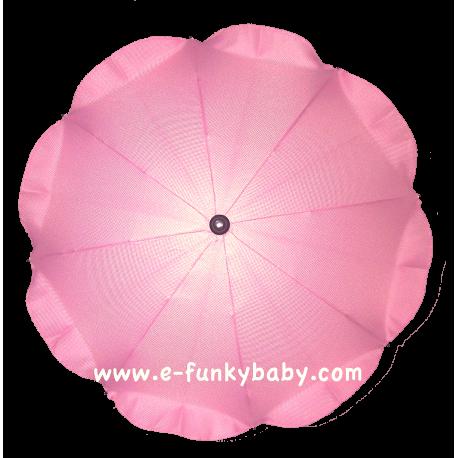 Parasol sombrilla para carrito rosa