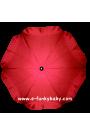 Parasol sombrilla para carrito rojo