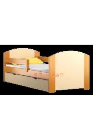 Cama de madera de pino macizo con cajón Kam4 160x70 cm