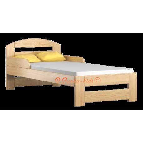 Cama de madera de pino macizo Tim1 con cajón 160 x 80 cm