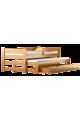 Cama nido de madera maciza con cajón y colchón Pablo 190x80 cm