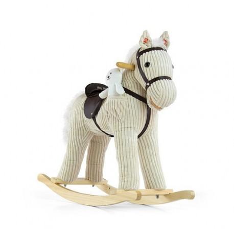 Caballo balancín Pony beige