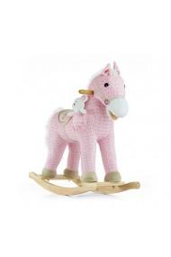 Caballo balancín Pony rosa