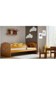 Cama infantil de madera de pino macizo Molly con cajón 160x80 cm