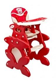 Trona convertible en pupitre rojo