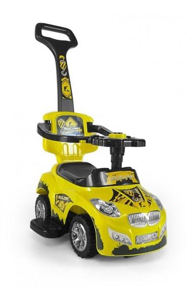 Correpasillos coche 3 in 1 HAPPY amarillo