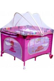 Parque infantil y cuna de viaje dobles gemelos 2 en 1 princesa rosa
