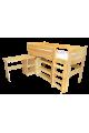 Cama semi alta con escritorio Bella 200x90 cm