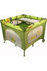 Parque infantil y cuna de viaje dobles gemelos 2 en 1 verde