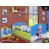 Cama infantil Happy Verde Colección con cajón y colchón 140x70 cm