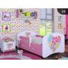 Cama infantil Happy Rosado Colección con cajón y colchón 140x70 cm