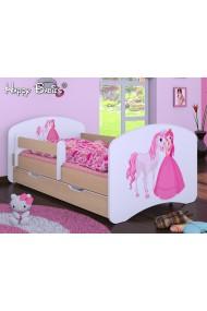 Cama infantil Happy Peral Colección con cajón y colchón