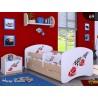 Cama infantil Happy Peral Colección con cajón y colchón 140x70 cm