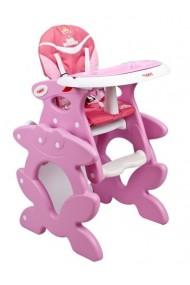 Trona convertible en pupitre rosa Ala