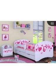 Cama infantil Happy Colección para Niñas con cajón y colchón