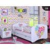 Cama infantil Niña Colección Dibujos con cajón y colchón 140x70 cm