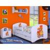 Cama infantil chico Colección Dibujos con cajón y colchón 140x70 cm