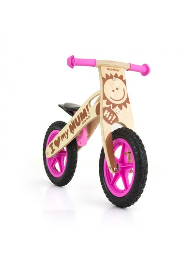 King Chica - bicicleta de madera sin pedales