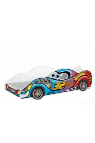 Cama coche de carreras con colchón 180x90